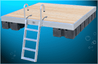 DuraLite Swim Raft with Cedar Decking