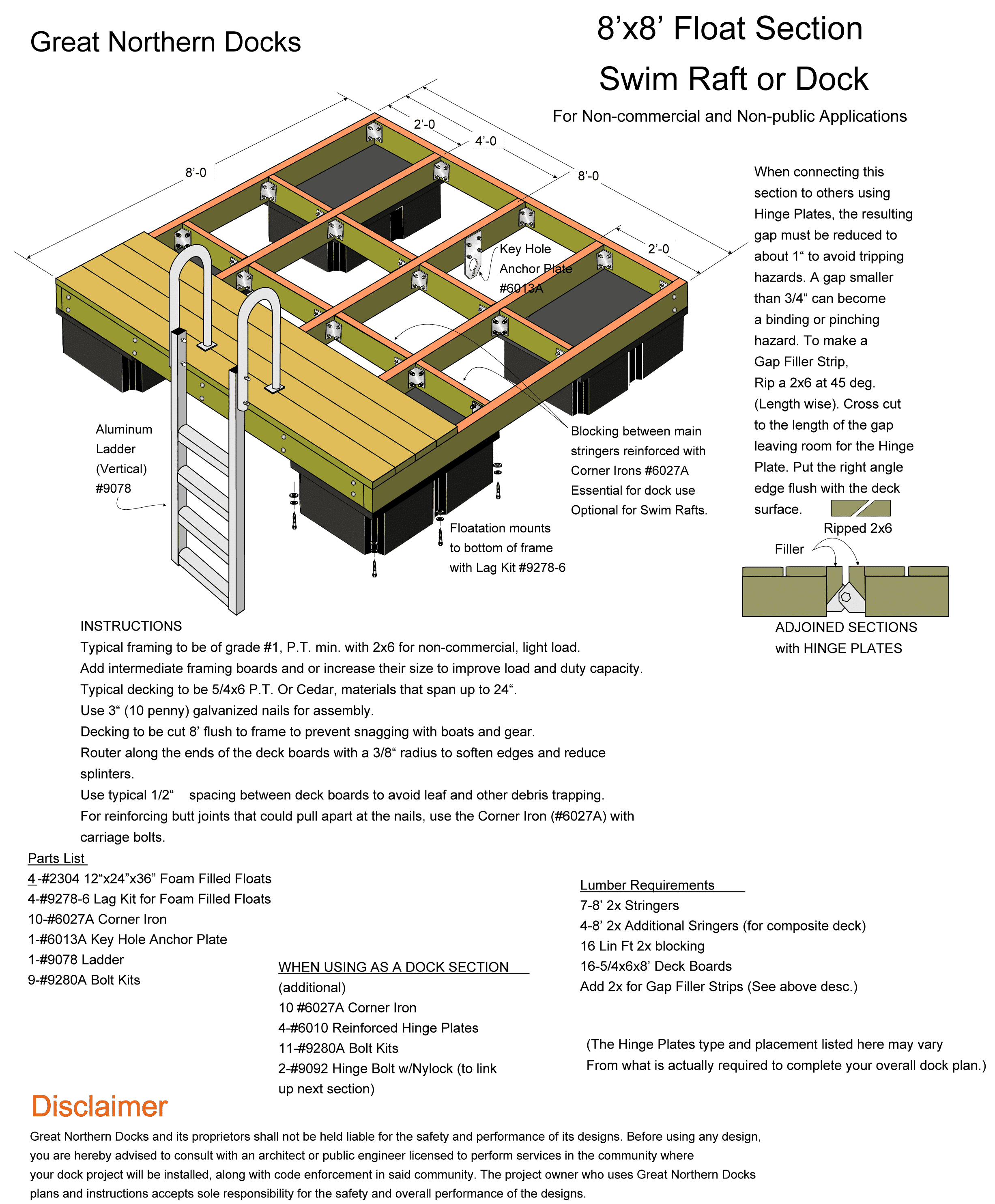 Floating Barrel Dock Plans - OmahDesigns.NET