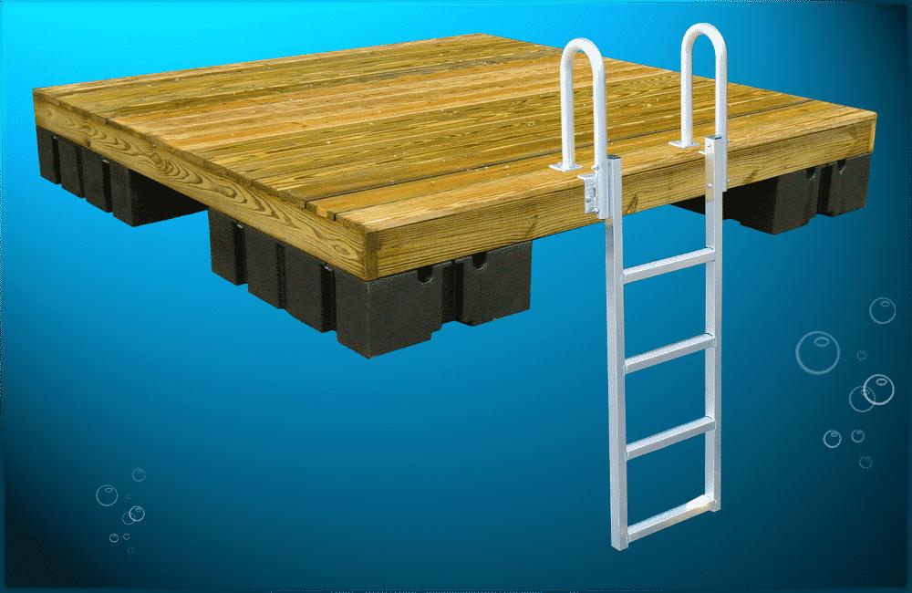 Pressure Treated Swim Raft With Pressure Treated Decking