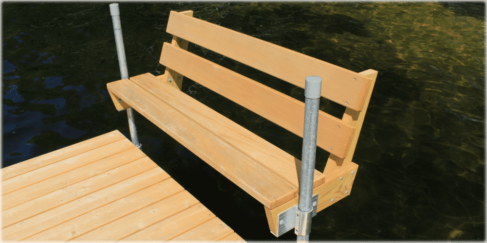 Featherlite docks with thru flow decking for Floating bench plans