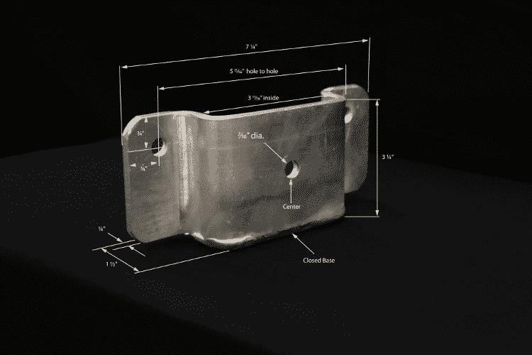 Wood 4x4 Post Dock Hardware