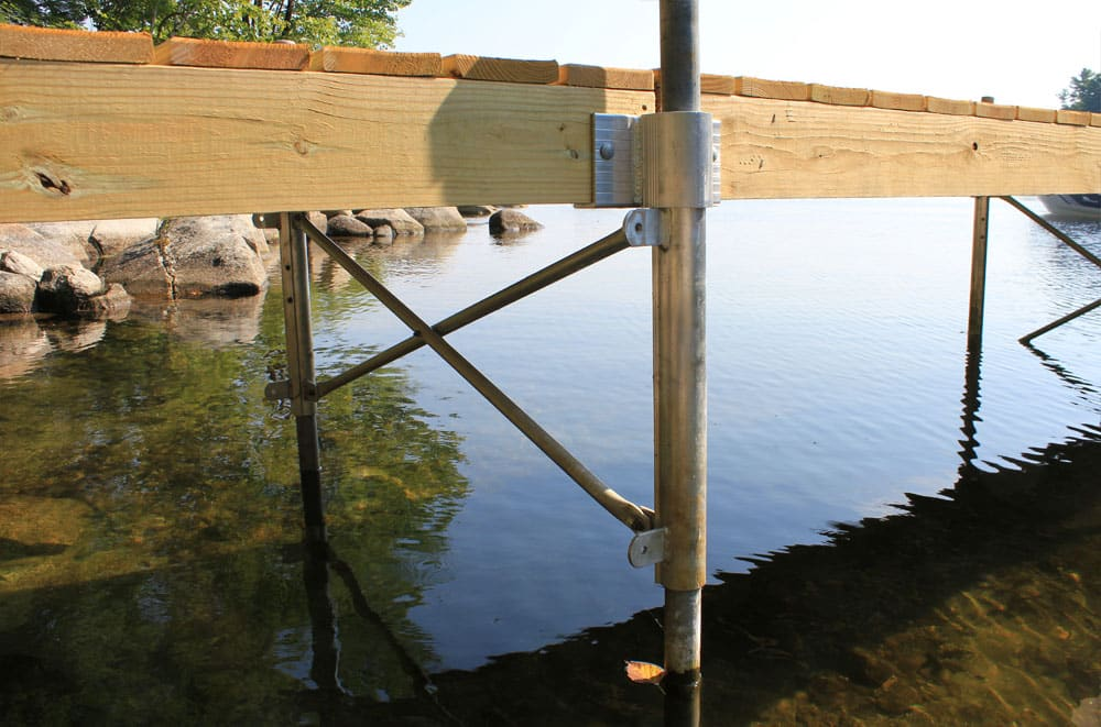 Kayak Dock Rack >> Photo Gallery: Stationary Wood Docks - Boat Docks
