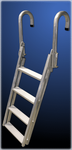 9079DL DuraLITE Aluminum Snap-On Swing-Up Slanted Dock Ladder $250