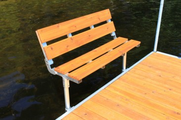 4' Folding Bench For DuraLITE Aluminum Dock,s 9569CD w/ Cedar $329