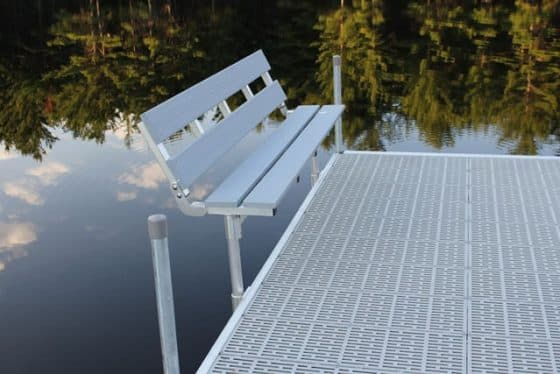 4' Folding Bench For DuraLITE Aluminum Docks, 9569PD w/ Lumberock $406 http://youtu.be/gHsSKgpZc4M