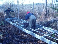 Aluminum Trail Bridge Installation