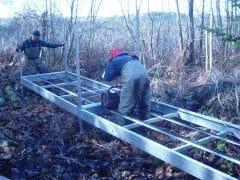 Aluminum Trail Bridge Installation