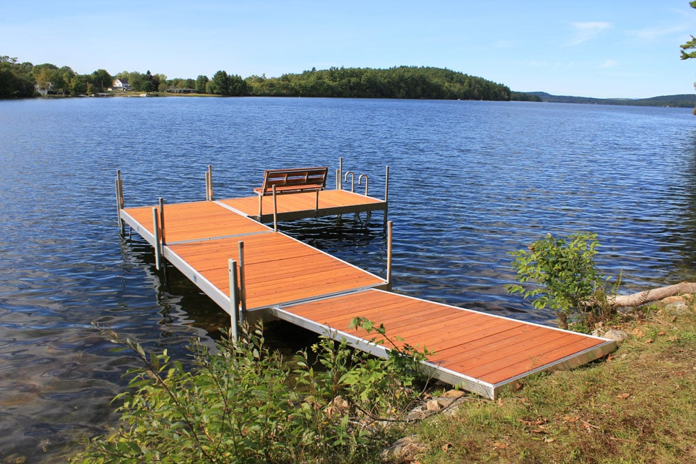 duralite stationary dock system with cedar removable decking - Boat Dock Design Ideas