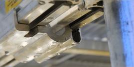 "Aluminum ""J"" Bracket for FeatherLite Aluminum Docks"