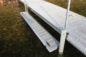 "Boarding Step / Kayak Launch / Swim Platform for FeatherLITE Aluminum Docks 10'x15"" #9750TF $707"