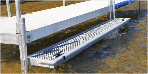 "10' x 15"" Boarding Step / Kayak Launch for DuraLITE & FeatherLITE Aluminum Docks 9750TF $559"