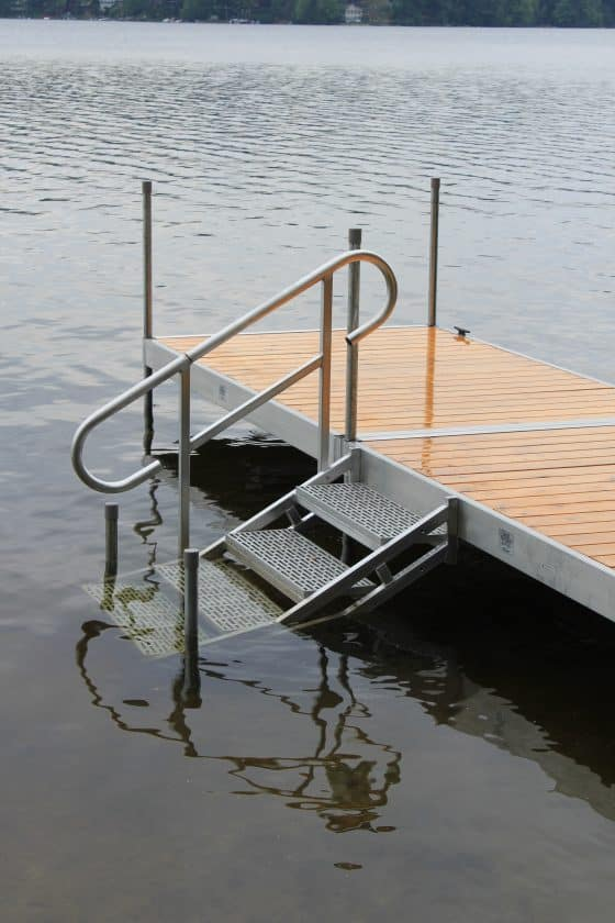Dock Stairs Into Water Custom Sized (See stair page for pricing)