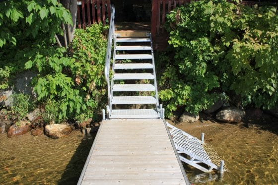 Aluminum & Thru Flow Dock Stairs (See stair page for pricing)