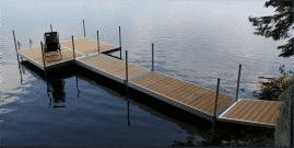 DuraLite docks with Cedar decking, platform configuration.