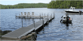 DuraLite docks with Thru Flow™ decking. Lightweight and worry free!