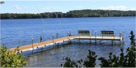 DuraLite Swim Raft with Cedar Decking