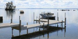 DuraLite docks with Thru Flow™ decking.
