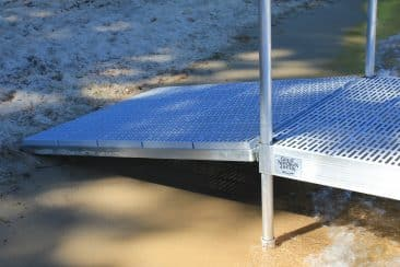 FeatherLITE 4'x5' Aluminum Ramp with Thru Flow #9568FLT $485, w/ cedar #9568FLC $409