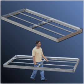 FeatherLite docks are available in a range of sizes and deck options!
