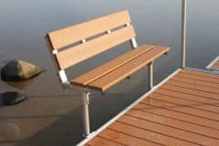 4' DuraLITE Aluminum Snap-On Folding Dock Bench