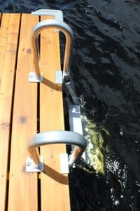20º Aluminum Swing Up Swim Ladder