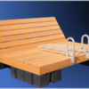 Pressure Treated Swim Raft with Removable 'Lite Rite' Cedar Decking