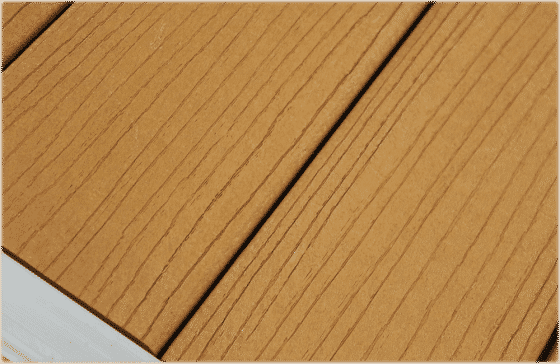 Low maintenance synthetic cedar color decking available on DuraLite docks.