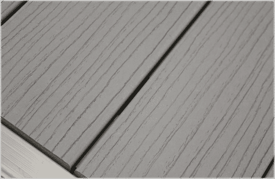 Low maintenance synthetic gray color decking available on DuraLite docks.