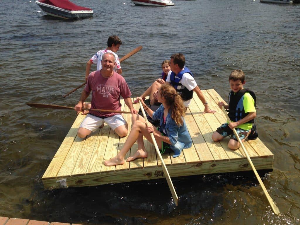 Wood Raft Boat Docks