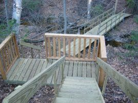 Trail Bridge and Stairs