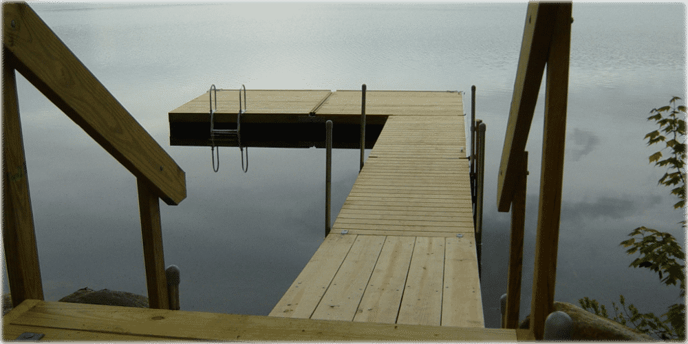 Dura-LITE™ Swim Raft with Cedar Decking