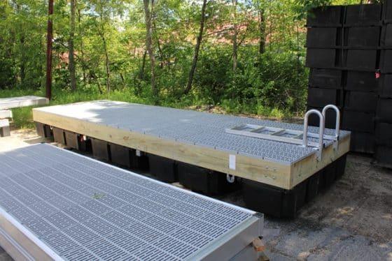 Straight Aluminum Swim Ladder