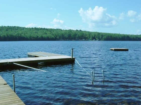 Stiff Arms to align Floating Dock