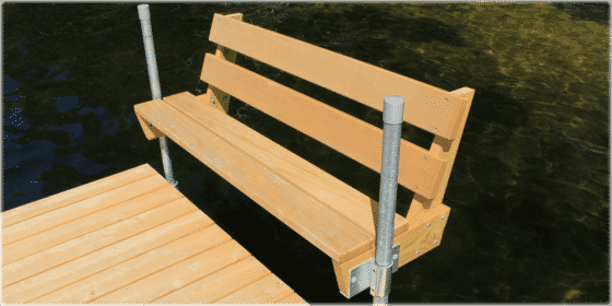 FeatherLite docks with Thru Flow™ decking.