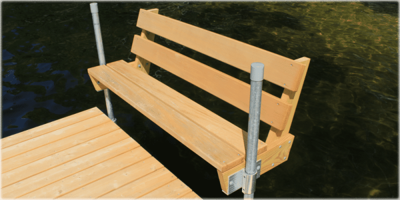 Feather-LITE™ docks with Thru Flow™ decking.