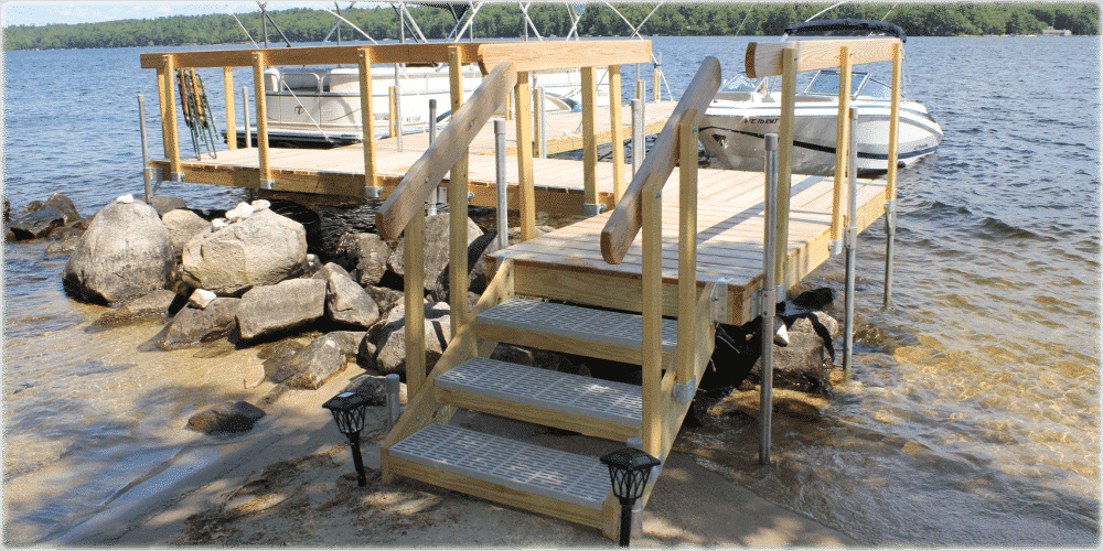 Wood Frame Dock Stairs Great Northern Docks