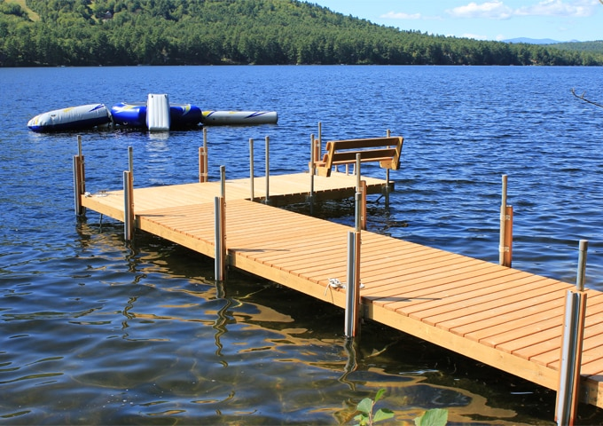 boat dock design ideas stationary wood docks boat docks - Dock Design Ideas