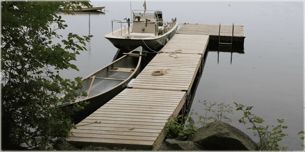Kayak Dock Rack >> Photo Gallery: Floating Wood Docks - Boat Docks