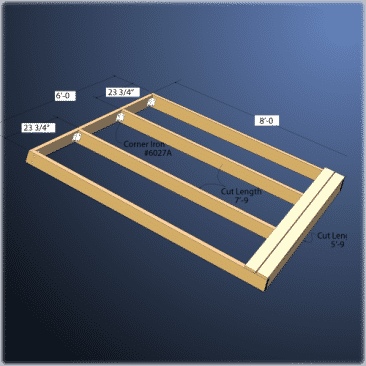 Wood frame docks are available in many sizes.