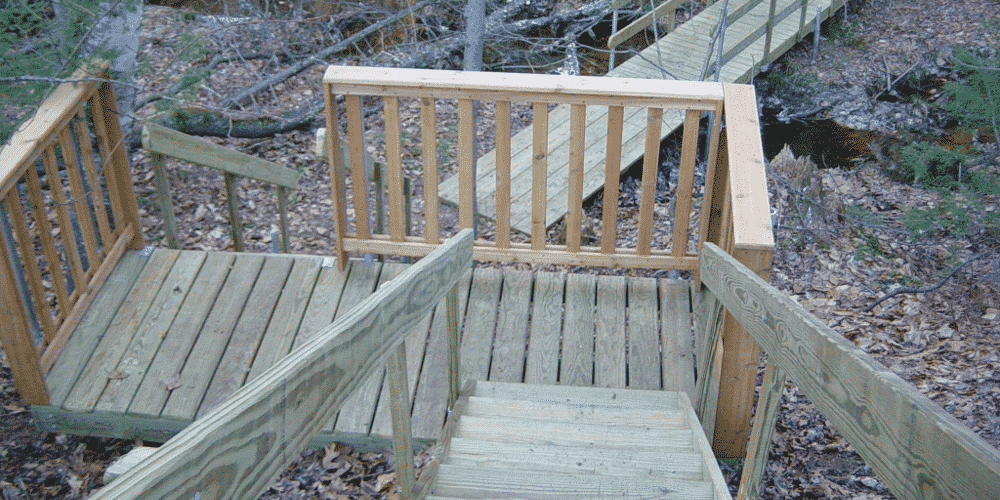 Kayak Dock Rack >> Photo Gallery: Wood Frame Stairs - Boat Docks