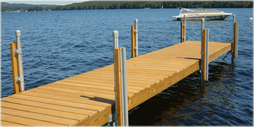 photo gallery stationary wood docks boat docks. Black Bedroom Furniture Sets. Home Design Ideas