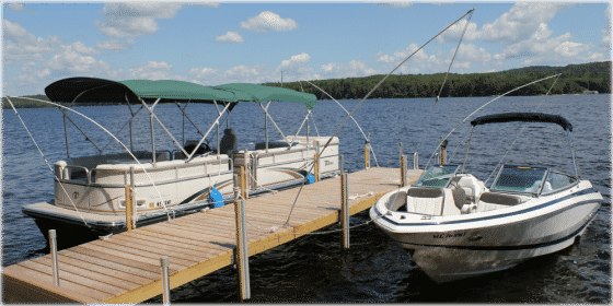 Boating is more enjoyable with a dock for loading and unloading.