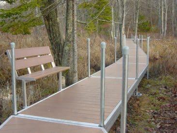 Marsh trail rest stop