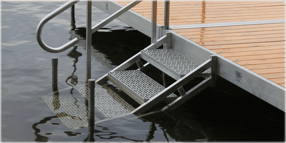 Aluminum Dock Stairs Great Northern Docks