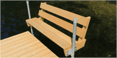 Benches for your wood docks available in Cedar or Pressure Treated.