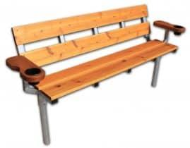 Cedar Bench With Armrest