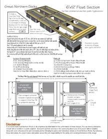 Floating Dock Plan 6'x12'