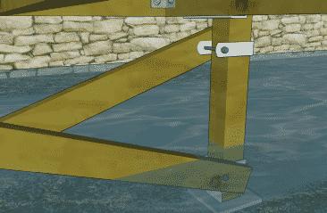 4x4 Brace Clamp