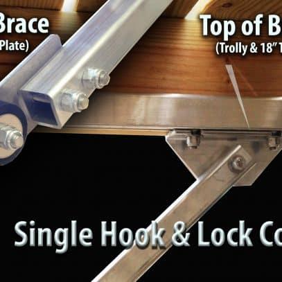 "Medium Hook and Lock Dock Corner Brace  75"" #9633"