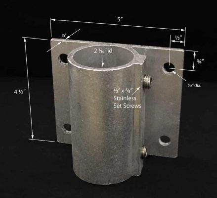 Flush Mount Pipe Bracket #4183